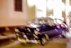 363 - Purple Car (kosmekosme) Tags: car automobile old oldtimer classic classiccar icm intentionalcameramovement cuba cuban trinidad historic historical history street movement abstract light lights streetlight streetview evening vehicle blur speed