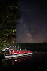 Milky Way Over Lake Alice (mtuswan) Tags: milkyway galaxy lakealice pontoon tomahawk wi