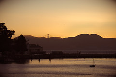 Sunset from San Francisco Maritime Historical National Park (m01229) Tags: goldengatebridge hydebeach
