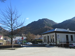 Sunny Morning in Arrowtown (Kevin Fenaughty) Tags: outdoor urban shopping mountain tree road car lamp sign arrowtown otago newzealand