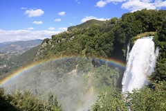 Scenic Landscape (marksapienza) Tags: rainbow waterfall nature lans dscape landscape forest trees italy cascate delle marmone