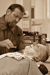 Trust (ridgewalker51) Tags: shaved tellcity tellcityindiana oldschool indiana shave straightrazor razor barber barbershop bw blackandwhite