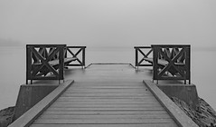 Small bridge at Nacka Strand in the mist (Daniel BJ Bengtsson, Stockholm) Tags: 2where 3subject 6other bridge citypostaladress country county mist stockholm sweden