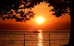 Sonnenuntergang... (Zatato) Tags: bregenz strand hafen sommer schiff natur