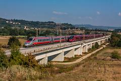 Treni AV a Incisa (ice91prinzeugen) Tags: trenitalia fs ferrovie dello stato italiane etr italo agv pendolino 600 direttissima frecciargento
