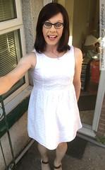 July 2017 (Girly Emily) Tags: crossdresser cd tv tvchix tranny trans transvestite transsexual tgirl tgirls convincing feminine girly cute pretty sexy transgender boytogirl mtf maletofemale xdresser gurl glasses dress wedges highheels tights hose hosiery outdoor