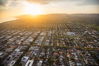 Sunset Neighborhood Heli