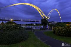 Infinity Bridge (Morty1884) Tags: bridge bridges infinity rivers trees wearside canon 6d night lights sky