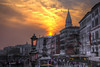Sonnenuntergang in San Zaccaria (hph46) Tags: venedig italien italia sonnenuntergang sunset sanzaccaria palazzoducale campanile canon eos5dmkii hdr