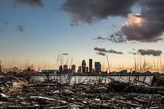 Sunset in Louisville - Kentucky (nicklaborde) Tags: 500px sky city sunset water river clouds skyline skyscraper waterfront dusk nikon d7000 kentucky louisville ohio ky