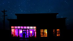 The haunting (Holly Calinsky Jauch) Tags: ghosttown bodie night light stars colors