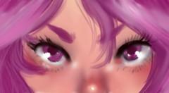 Something I drew~ (Jiibataiga-Julie Farrior) Tags: anime digital art fineart kawaii purple tablet wacom intuos painttoolsai saipen oc original manga cute