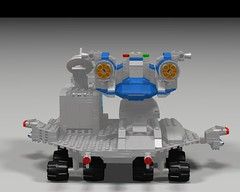 Space Fighter Carrier and FIghter Back (hornjesse896) Tags: legoclassicspace lddtopovray classicspace carrier spaceship spacefighter