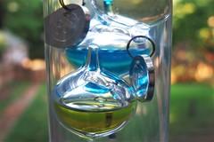HMM ~ texture edition (karma (Karen)) Tags: galileothermometer temperature floating liquid glass cylinder texture viewbeyond macros macromondays hmm