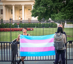 2017.07.26 Protest Trans Military Ban, White House, Washington DC USA 7675