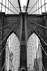 Brooklyn Grid (DChoi95) Tags: new york nyc ny bridge brooklyn summer 2017 july black white blackandwhite newyork landmark nyclpc city landmarks preservation commission architecture wires wire flag 500 mm f18 nikon d3300 iso400
