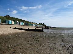 Beach Huts (Gilder Kate) Tags: hillheadbeach beach coast thesolent hampshire stubbington titchfieldhaven beachhuts huts groyne groynes panasoniclumixdmctz70 panasoniclumix panasonic lumix dmctz70 tz70