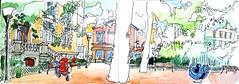 Lyon, Croix Rousse,  square  de la Mairie (Croctoo) Tags: croctoo croctoofr aquarelle watercolor lyon square croixrousse