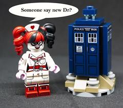 New Dr about. (terryfay1983) Tags: drwho lego minifigure harleyquinn batman gotham drharleenquinzel tardis