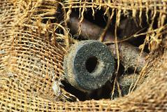 (leahlaurinda) Tags: watersidewoolenmill mill burlap sack bobbins factory pennsylvania macro