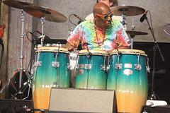 "John Mooney & Bluesiana (2017) 07 - Alfred ""Uganda"" Roberts (KM's Live Music shots) Tags: blues unitedstates neworleans alfredugandaroberts johnmooney conga drums neworleansjazzheritagefestival bluestent fairgroundsracecourseneworleans"