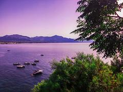 Landscape Mongerbino (ilsiciliano_) Tags: mongerbino landscape panorama paesaggio scattto photo foto palermo italia iphone colori caldi sunset green sea mare lungomare barca