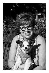 """Mother and daughter... (Heinz """"57"""" Varieties of Cameras) Tags: leicam8 summilux50mmf14le iso160 monica brittanyjeangassnernedza monochrome blackandwhite bw blackdiamond blackchromeedition"""