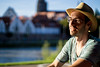 the boy and the sun (human_wildlife) Tags: summer evening enjoy relax boy 50mm minolta a6000 sony greatshot sun hat light donau ulm
