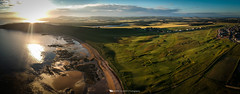 West Bay Panorama (Bertie Allison) Tags: dji spark drone aerial elie fife visit scotland golf course golfhouseclub links seaside beach sea