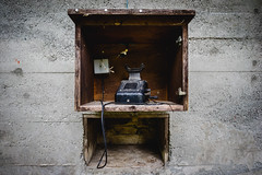 Nobody's Answering (Jannik Peters) Tags: phone loxia 21 old lost place rotten wood abandoned zeiss 21mm 28 sony a7 a7ii