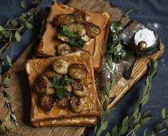 french toast (tekkin) Tags: food foodflatlay darkfoodphoto smoothie foodlover frenchtoast flatlay