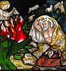 Moses and the Burning Bush (Lawrence OP) Tags: biblical moses cambridge burningbush jesus college burnejones stainedglass window angel goats shepherd morris