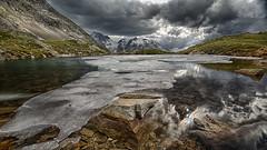 Refreshment (Dani Maier) Tags: gadmen bern schweiz ch alpen see bergsee eis susten wolken