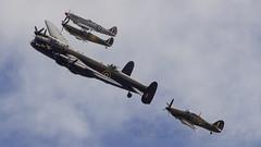 Battle of Britain Memorial Flight (william.spruyt) Tags: bbmf riat riat17 lancaster spitfire hurricane merlin