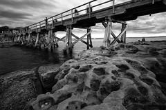 Bridge to Bare Island (astrogirl969) Tags: fujifilm xe1 samyang12mmf20ncssc wideangle rocks bridge bareisland laperouse iwps outing outdoor water monochrome blackandwhite postprocessed silverefexpro filmsimulation tmax100 5faves