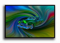 Cady with a Twirl (Thunder1203) Tags: psycadelic background photoshopped twirl autoshow carshow classiccars customcars rocknroll thunder1203 canoneos5dmkiii unlimitedphotos yabbadabbadoo hdr aurorahdr phsycedelic