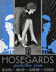 1930s LR Hosegards stockings store display (Tom Simpson) Tags: stockings nylons thighhighs vintage woman legs lingerie 1930s ad ads advertising advertisement vintagead vintageads lrhosegards