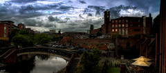 Castlefield Locks (Kev Walker ¦ From Manchester) Tags: architecture building canon1855mm citycentre england hdr lancashire manchester northwest outdoor clouds castlefileds bridgewatercanal bridge canal