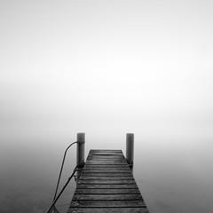 (DomSwiss) Tags: lac leman paysage photographe ponton vaud suisse switzerland noirblanc nb blackandwhite brume
