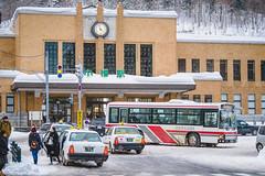 Otaru Station Square | Hokkaido Chou Bus (Pumpkin Kuma) Tags: jr station hokkaido otaru square taxi bus toyota 小樽駅前 小樽 北海道 中央バス 央バス