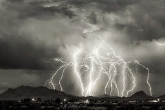 Whole Lotta Lightning (inlightful) Tags: weather lightning storm electrical electric virga rain electricity thunder night sky outdoors rural southwest newmexico monsoon timestack stack composite blackandwhite