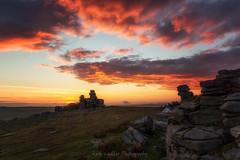Fiery sky on Dartmoor (Rich Walker75) Tags: dartmoor devon landscape landscapes landscapephotography sunset cloud clouds cloudporn sky red canon eos100d efs1585mmisusm