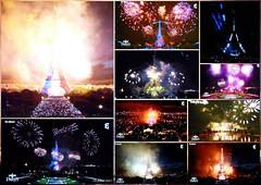 La Tour Eiffel brille de mille feux...... (brigeham34) Tags: télévision 14juillet feudartifice toureiffel montage10photos