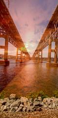 Twin Bridge Spans (veyoung52) Tags: bridge bridgespan newburgh beacon hudsonriver amtrak train newyorkstate