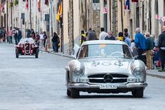 Mille Miglia, Gubbio 2017 (MikePScott) Tags: 300slcoupew198 508sbalillacoppaoro camera car events fiat gubbio italia italy mercedes millemiglia nikon28300mmf3556 nikond600 transport umbria