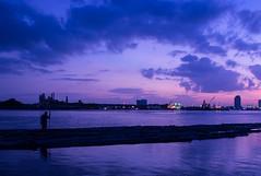 River of Bangkok (piyadouagpummat) Tags: thai thailand bangkok chaophrayariver sunset landscape olympus omd em5 silhouette