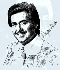Wayne Newton (Bob Smerecki) Tags: smackman snapnpiks robert bob smerecki sports art digital artwork paintings illustrations graphics oils pastels pencil sketchings drawings virtual painter 6 watercolors smart photo editor colorization akvis sketch drawing concept designs gmx photopainter 28 draw hollywood walk fame high contrast images movie stars signatures autographs portraits people celebrities vintage today metamorphasis 002 abstract melting canvas baseball cards picture collage jixipix fauvism infrared photography colors
