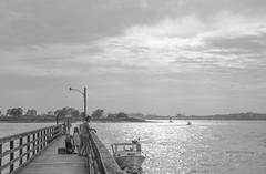 (amy20079) Tags: nikond5100 island portland portlandmaine newengland ocean sea pier clouds summer houseisland peaksisland