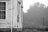 abandoned homestead, clothesline, clothespins,fog, evening, route 131 south, Saint George, Maine, Nikon D3300, mamiya sekkor 80mm f-2.8, 7.16.17 (steve aimone) Tags: homestead abandoned arhitecture clothesline clothespins fog evening saintgeorge maine nikond3300 mamiyasekkor80mmf28 mamiyaprime primelens blackandwhite monochrome monochromatic midcoast