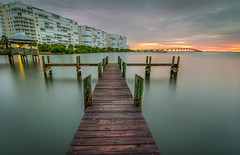 Plank (tshabazzphotography) Tags: pier fishing longexposurephotography longexposurejunkies alone wood hdr hdrphotography hdrlovers photomatix st johns river florida titusville tropics water sunrise sun sunriselovers space coast canon canont5i